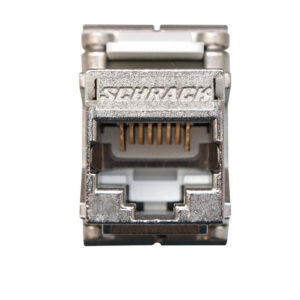 Schrack HSEMRJ6GWT Компјутерски приклучок TOOLLESS LINE Jack RJ45 shielded, Class Ea 10GB 4PPoE 100W