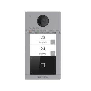 Hikvision DS-KV8113-WME1 Систем за видео интерком (Метална Надворешна станица) со 2 копчиња