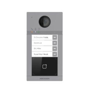Hikvision DS-KV8413-WME1 Систем за видео интерком (Метална Надворешна станица) со 4 копчиња